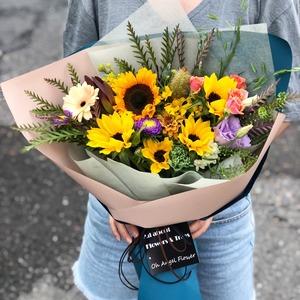 해바라기 꽃다발 (배송료 별도, 대전만 가능)